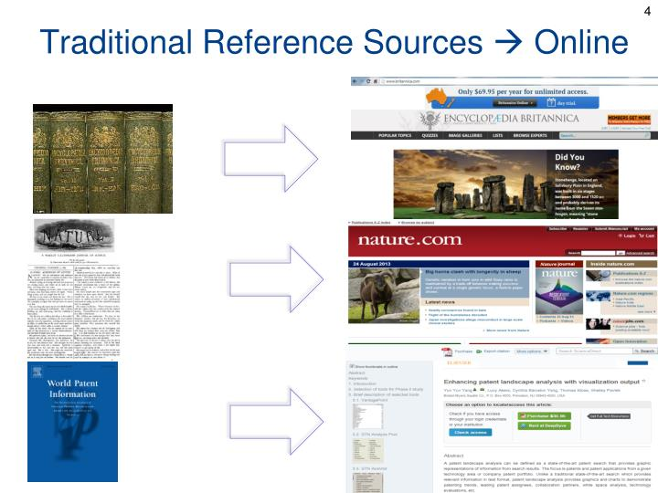 Traditional Reference Sources