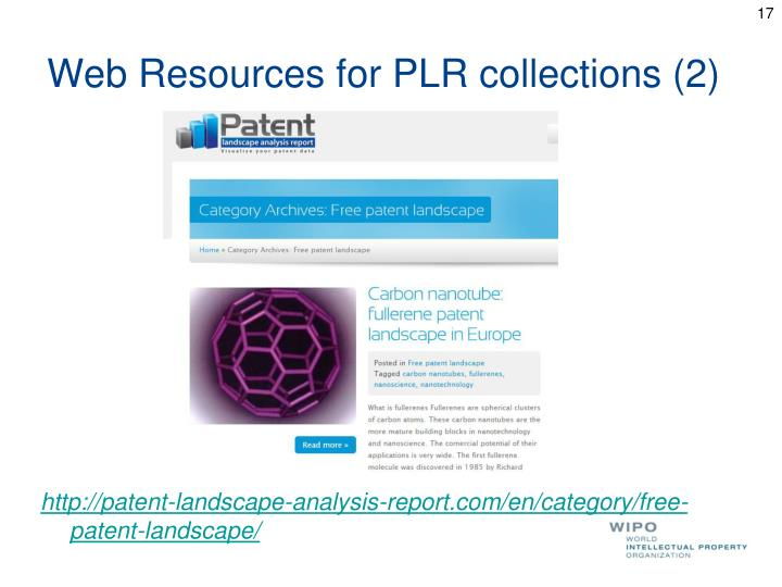 Web Resources for PLR collections (2)