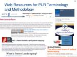web resources for plr terminology and methodology
