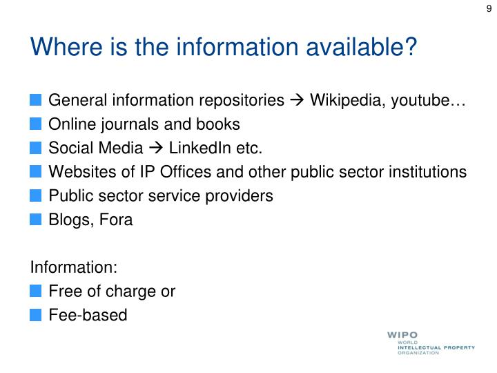 Where is the information available?
