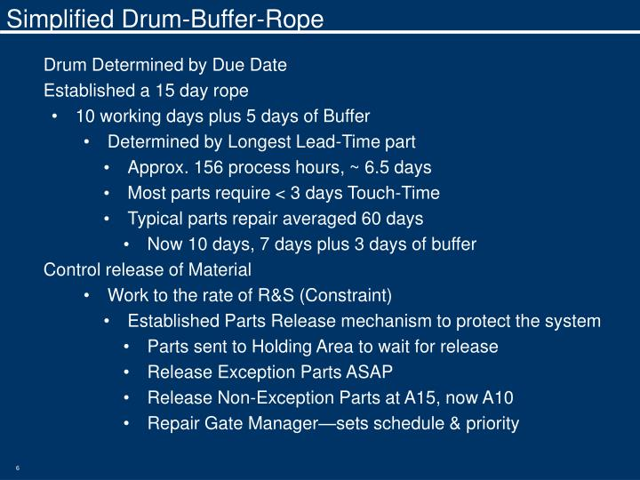 Simplified Drum-Buffer-Rope