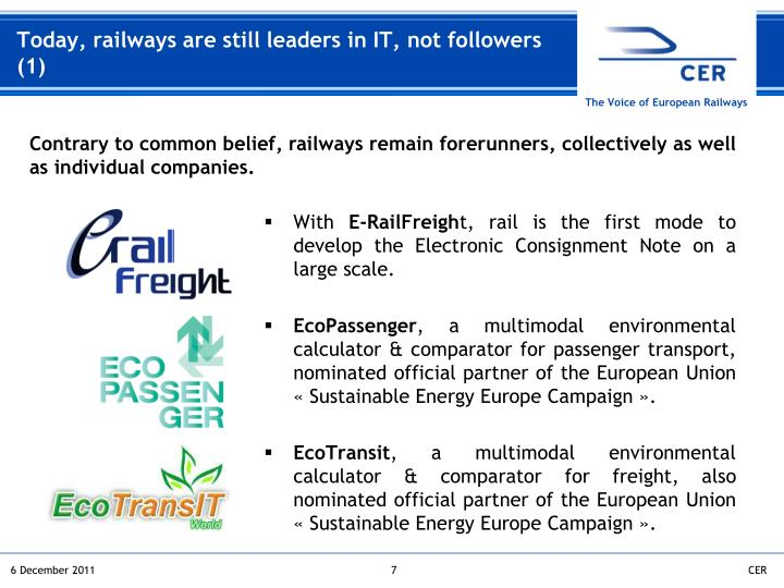 Today, railways are still leaders in IT, not followers (1)