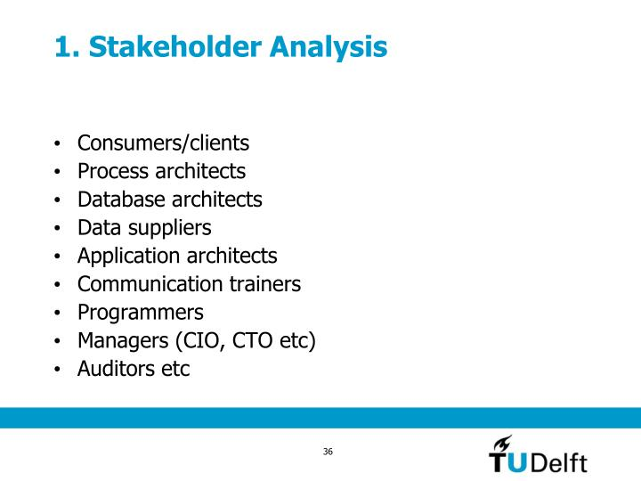 1. Stakeholder