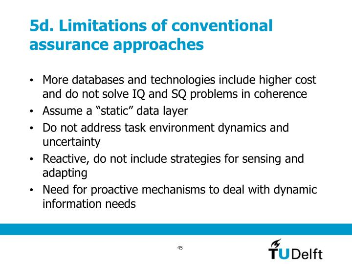 5d. Limitations of conventional assurance approaches