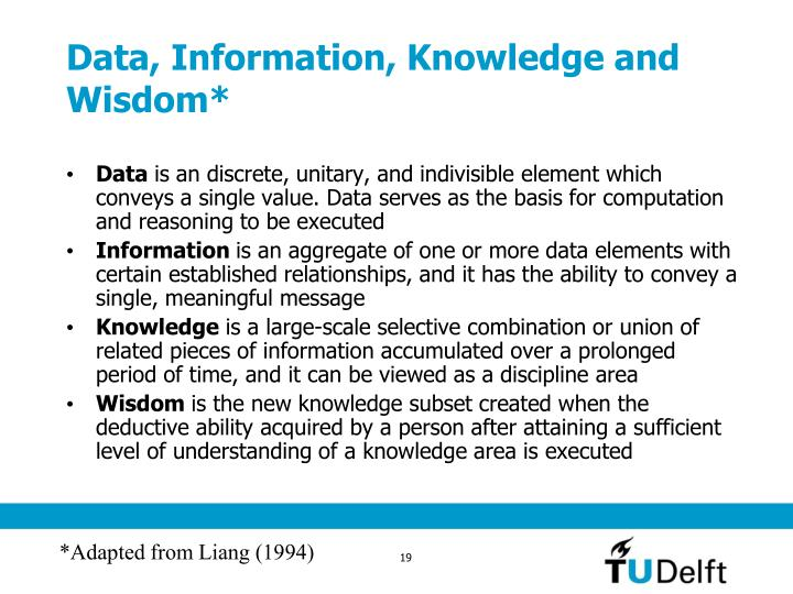 Data, Information, Knowledge and Wisdom*