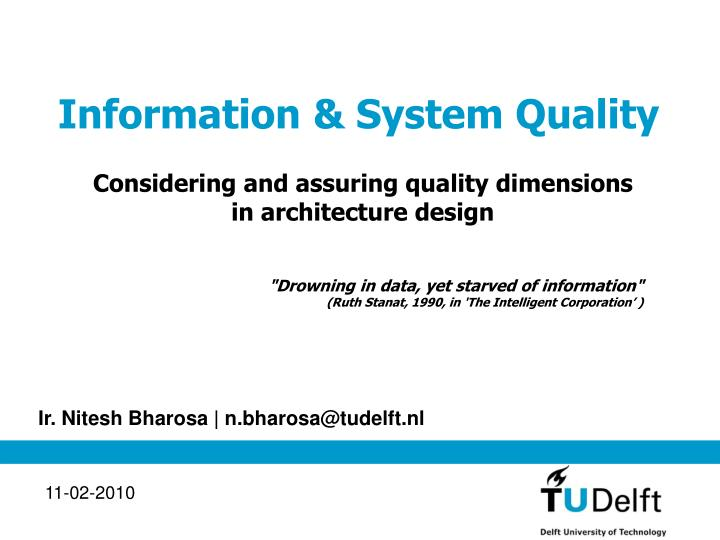 Information system quality