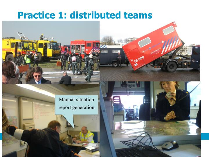 Practice 1: distributed teams