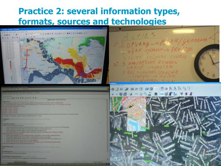 Practice 2: several information types, formats, sources and technologies