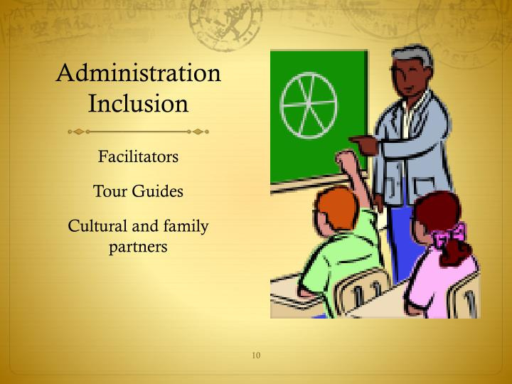 Administration Inclusion