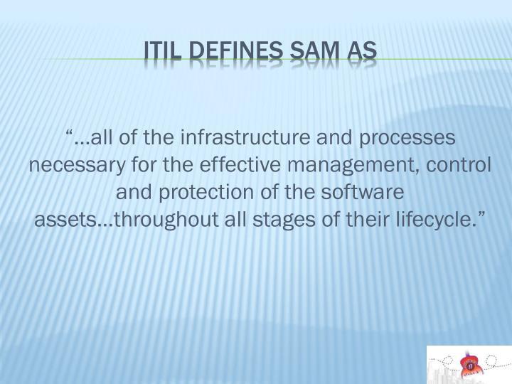 ITIL defines SAM as