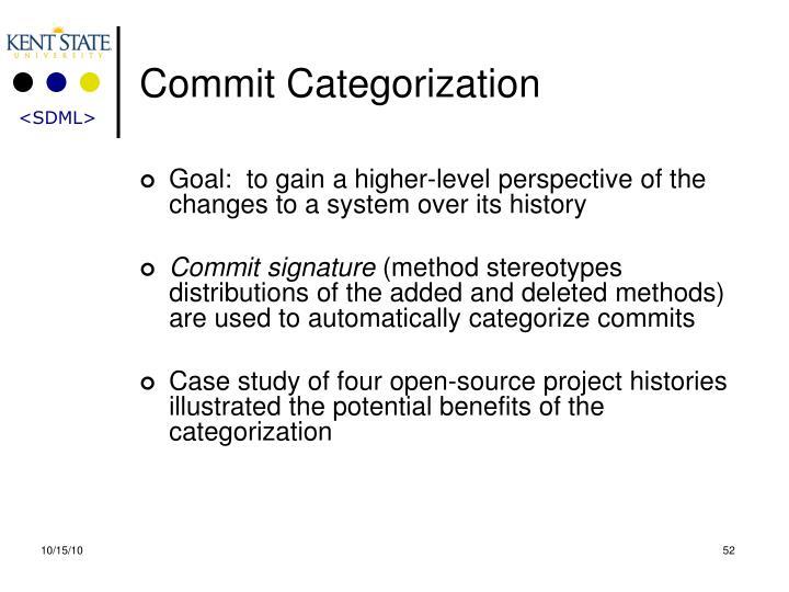 Commit Categorization