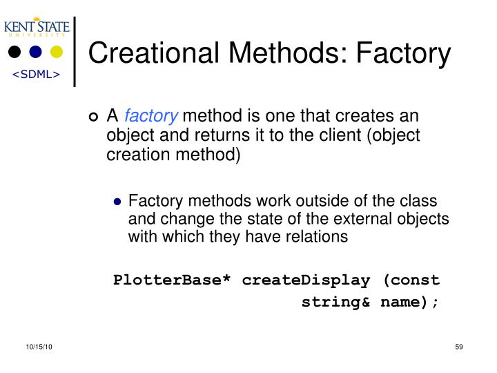 Creational Methods: Factory
