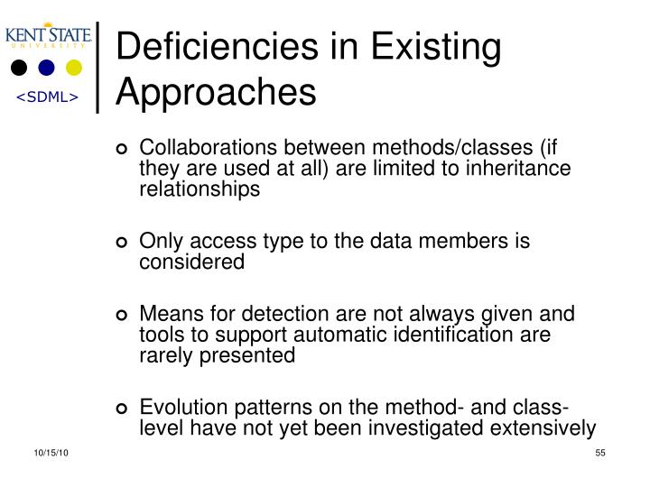 Deficiencies in Existing Approaches