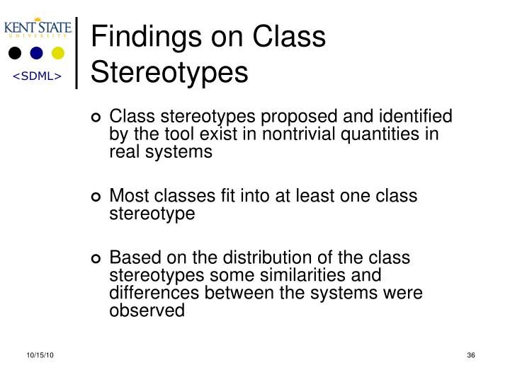 Findings on Class Stereotypes