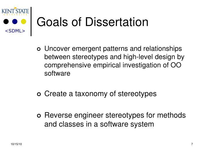 Goals of Dissertation