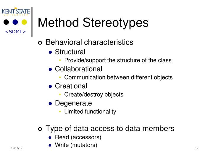 Method Stereotypes