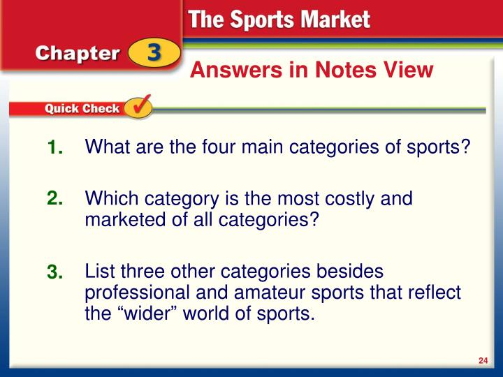 Answers in Notes View