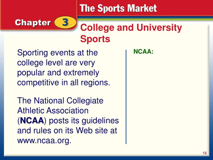 College and University Sports