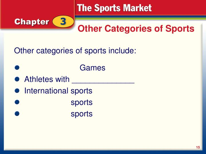 Other Categories of Sports