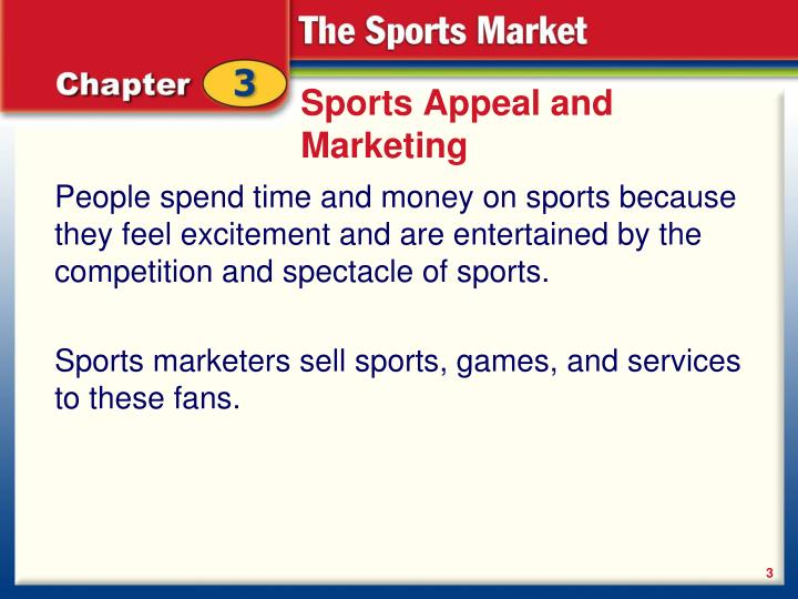 Sports appeal and marketing