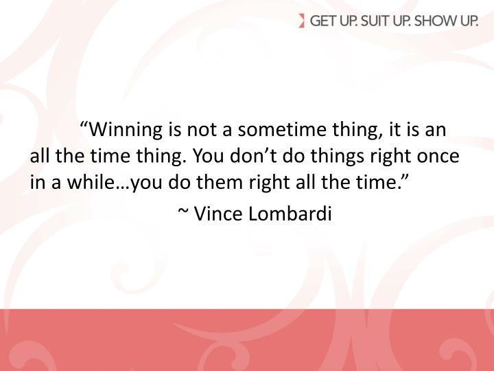 """""""Winning"""