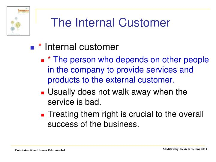 what is an external customer There are many similarities between internal and external customer service— both require helpfulness, empathy, and resourcefulness.