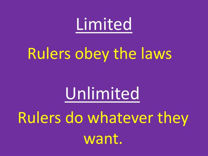 Rulers obey the laws