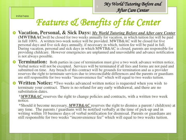 My World Tutoring Before and After Care Center