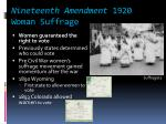 nineteenth amendment 1920 woman suffrage