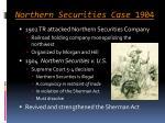 northern securities case 1904