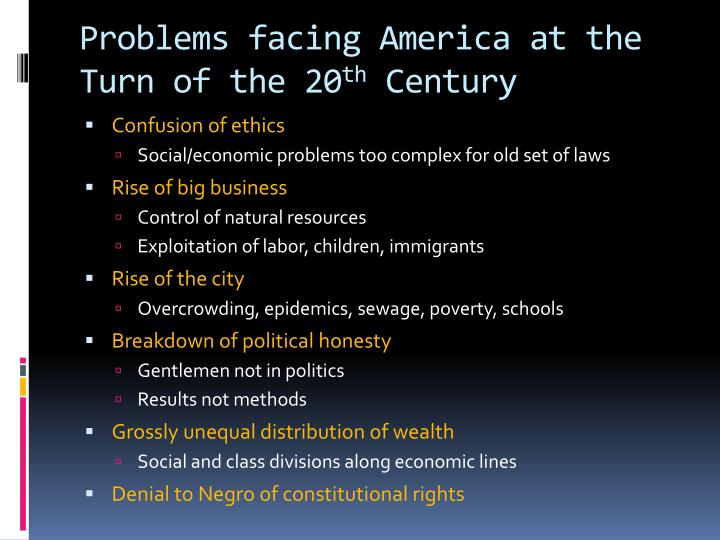 Problems facing America at the