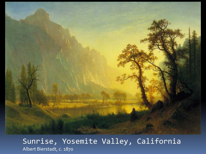 Sunrise, Yosemite Valley, California