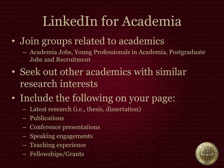 LinkedIn for Academia