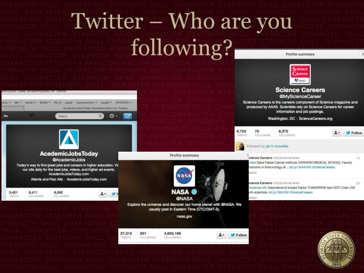 Twitter – Who are you following?