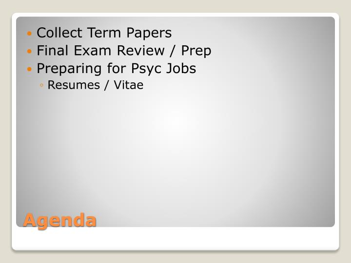 Collect Term Papers