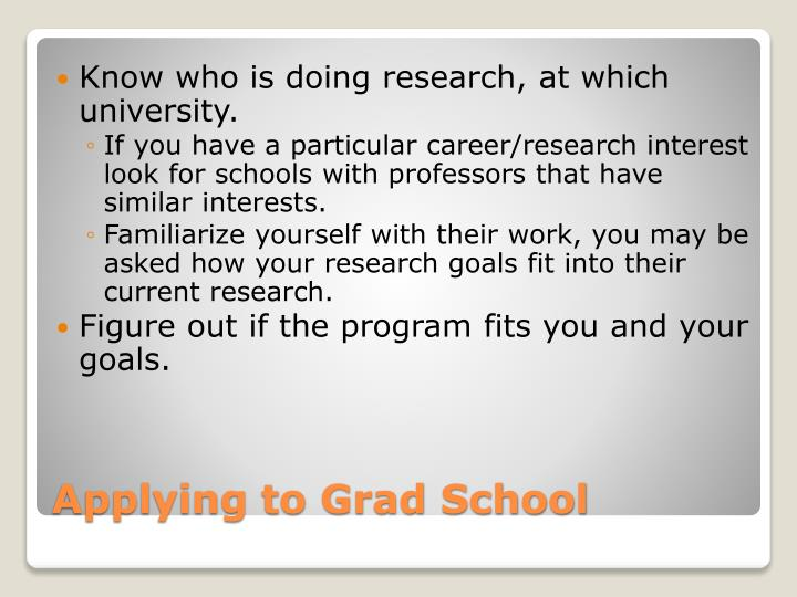 Know who is doing research, at which university.