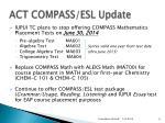 act compass esl update