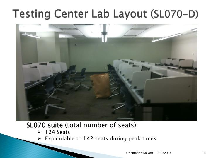 Testing Center Lab Layout (