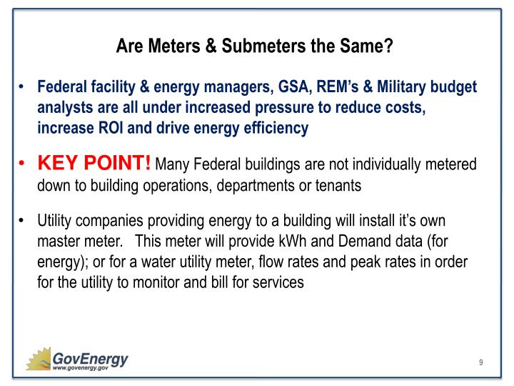 Are Meters & Submeters the Same?