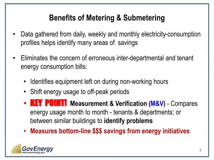 Benefits of Metering & Submetering