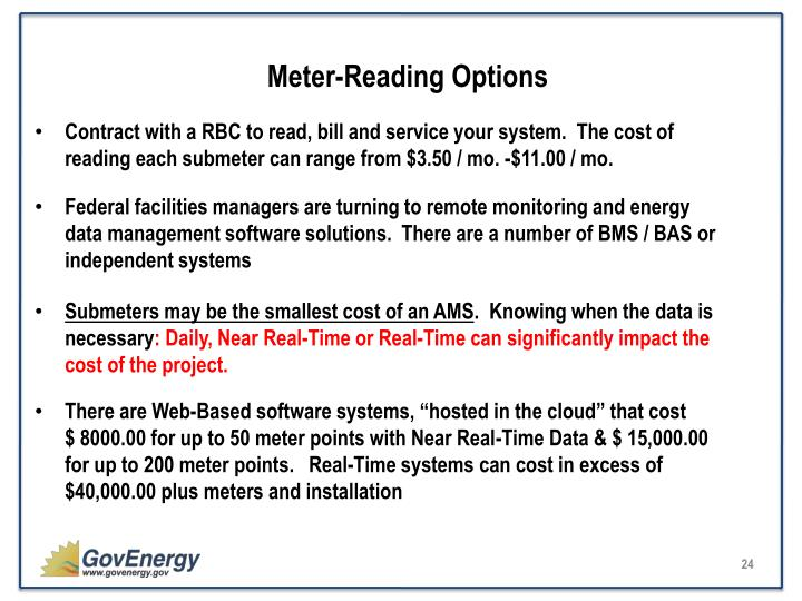 Meter-Reading Options
