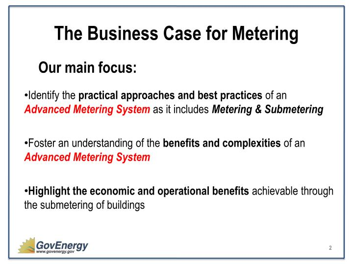 The business case for metering1
