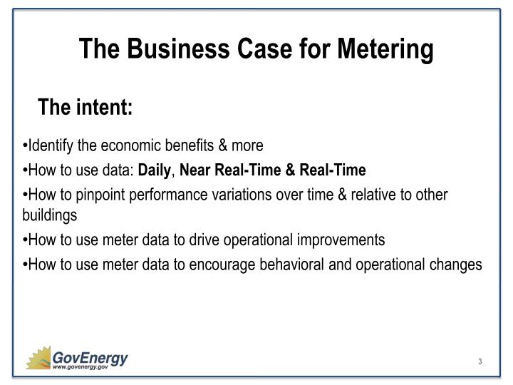 The business case for metering2
