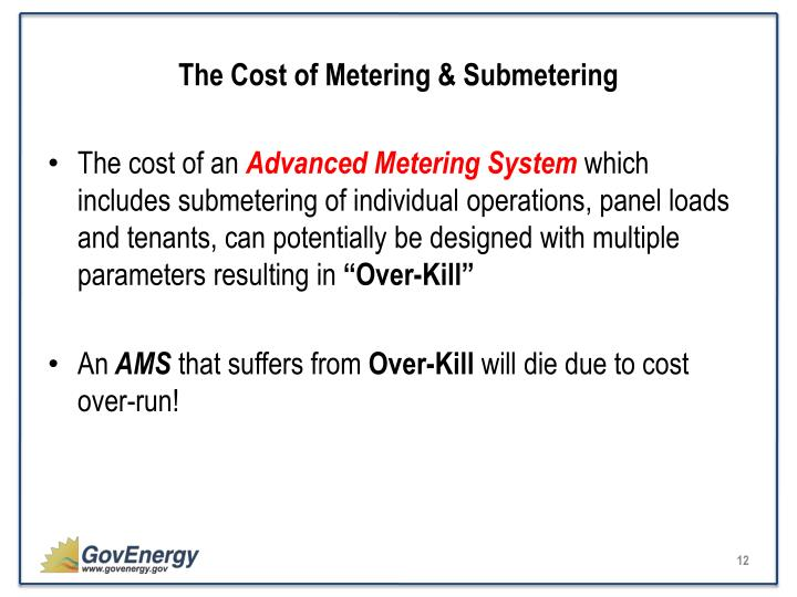 The Cost of Metering & Submetering
