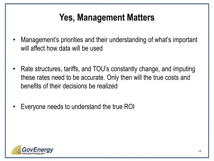 Yes, Management Matters