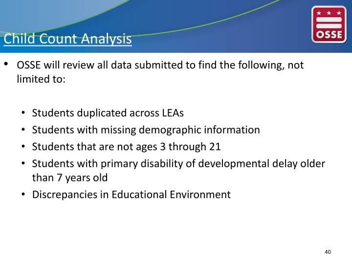Child Count Analysis