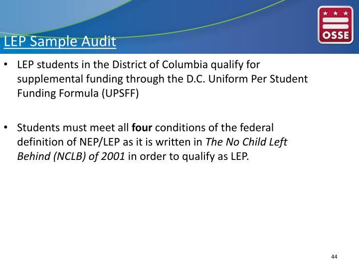 LEP Sample Audit