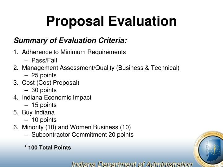 Proposal Evaluation