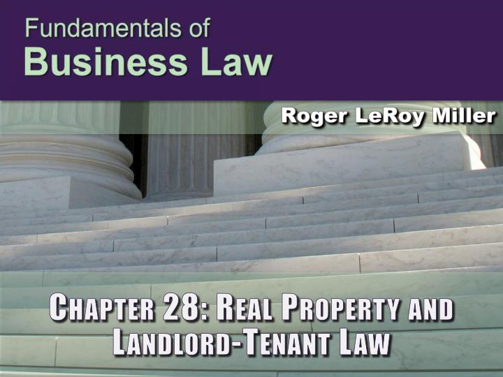 chapter 28 real property and landlord tenant law