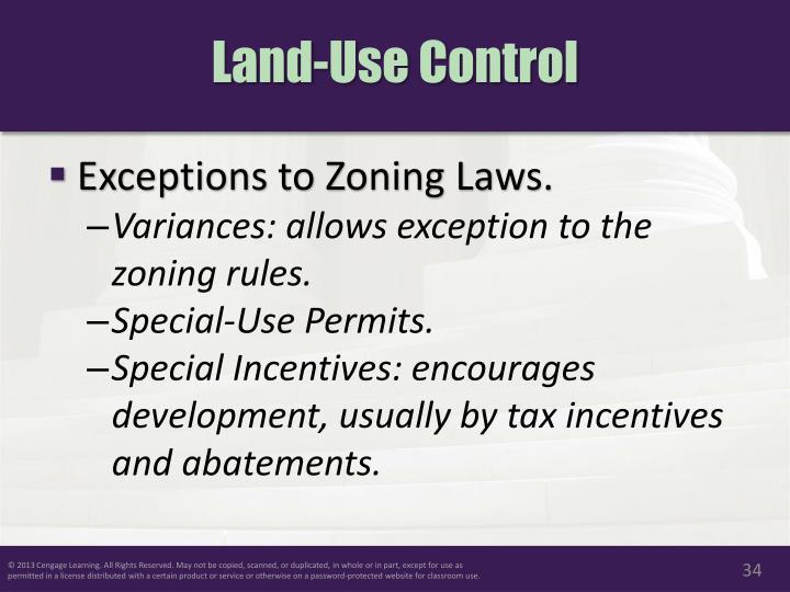 Land-Use Control